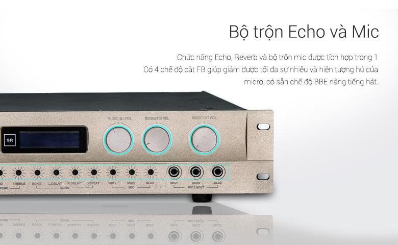 Vang liền công suất BCE KA-430 với chế độ Echo và Micro