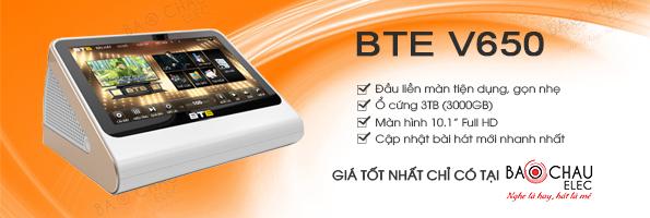 Đầu karaoke BTE V650 giá tốt nhất chỉ có tại Bảo Châu Elec