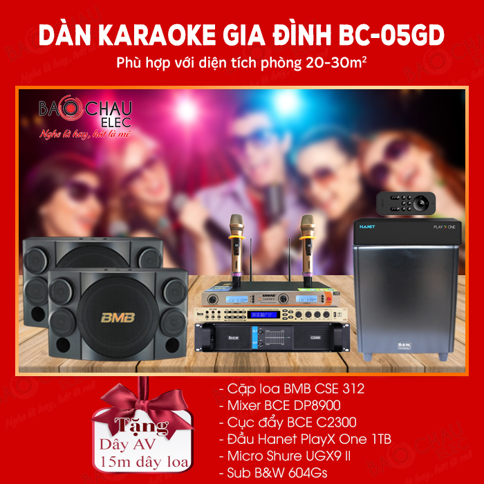 Dàn karaoke gia đình BC-05GD