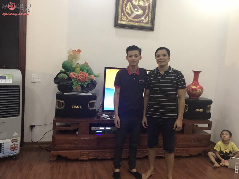 Lắp đặt dàn karaoke gia đình anh Tiến tại Bắc Ninh