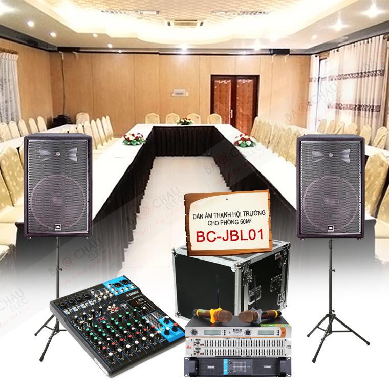 Dàn âm thanh hội trường 50m2 BC-JBL01 chất lượng cao, giá tốt