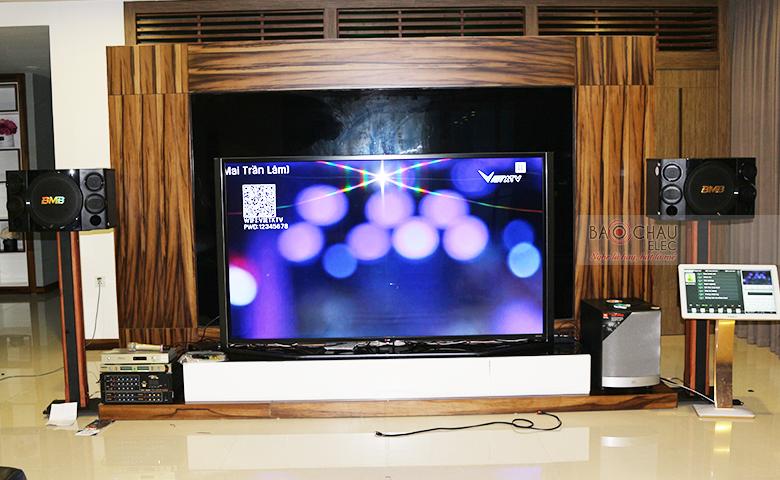 Lắp đặt dàn karaoke gia đình cao cấp 60 triệu tại KĐT Hòa Phát - Cầu Giấy