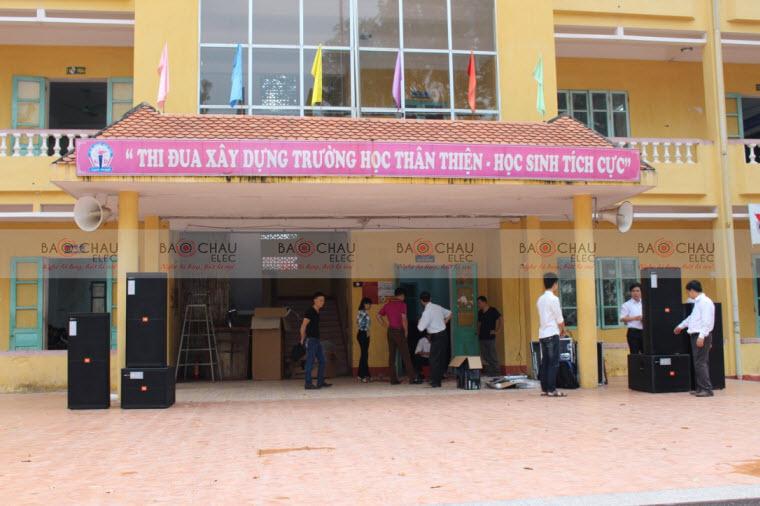 Hệ thống âm thanh ngoài trời tại trường THPT Lục Nam – Bắc Giang