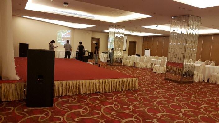 Lắp đặt âm thanh hội trường khách sạn Aurora - Đồng Nai