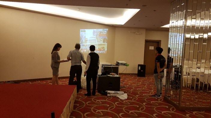 Lắp đặt dàn âm thanh hội trường khách sạn Aurora - Đồng Nai 08