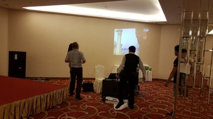 Lắp đặt dàn âm thanh hội trường khách sạn Aurora - Đồng Nai 09