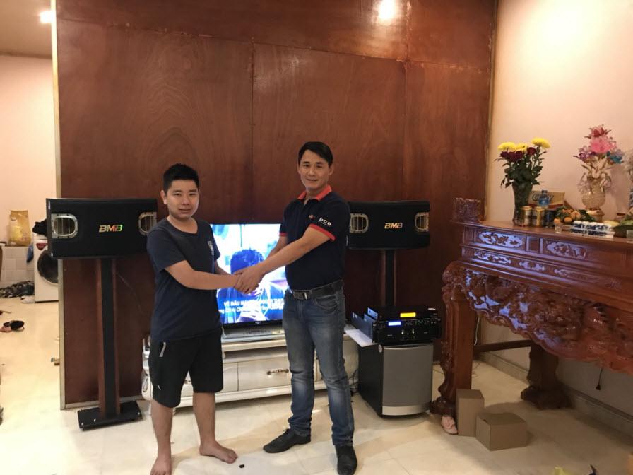 Lắp đặt dàn karaoke gia đình anh Khôi tại Yên Dũng - Bắc Giang