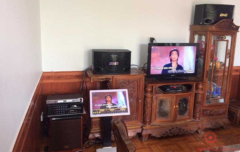 Lắp đặt dàn karaoke gia đình cho anh Tuệ tại Lục Nam Bắc Giang