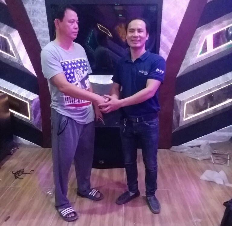 Lắp đặt dàn karaoke gia đình chú Lanh tại Hồng Bàng- Hải Phòng
