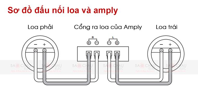 Cách đấu nối loa BMB CSV480 với amply
