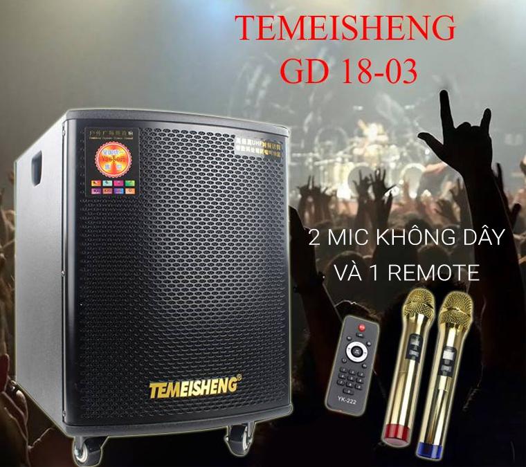 Loa kéo Temeisheng GD18-03 với phụ kiện