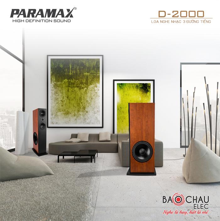 Loa Paramax D2000 - với thiết kế hiện đại, tinh tế nên phù hợp với nhiều không gian nội thất khác nhau