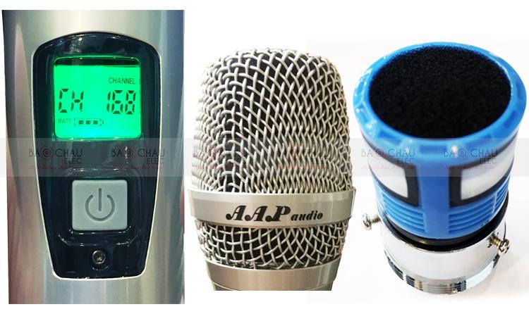 Micro AAP M6 - chi tiết tay mic không dây