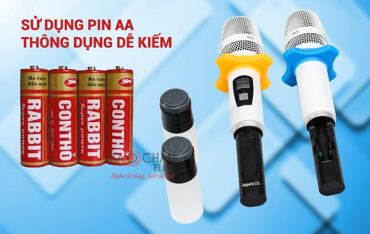 Sử dụng pin AA dễ kiếm - BCE U900 Plus